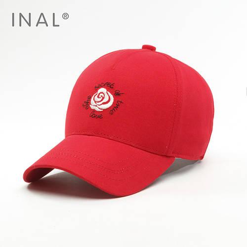 Кепка бейсболка, Rose, Хлопок, Красный, Inal