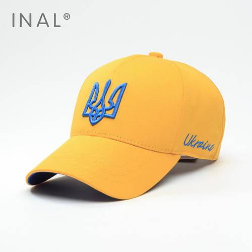 Кепка бейсболка, Ukraine, L / 57-58 RU, Хлопок, Желтый, Inal