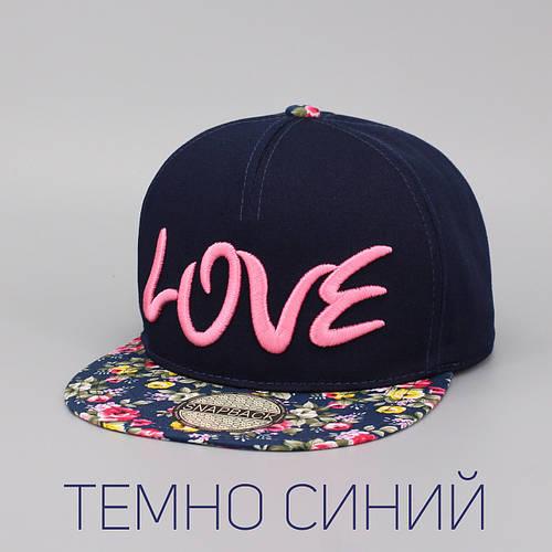 Кепка бейсболка, LOVE, M / 55-56 RU, Хлопок, Синий, Inal
