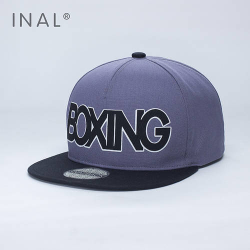 Кепка бейсболка, Boxing, M / 55-56 RU, Хлопок, Серый, Inal