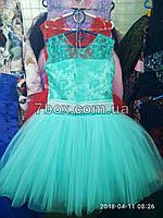 Детское нарядное платье бальное Прима.  Возраст 6-7 лет. Мятное, фото 1