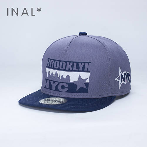 Кепка бейсболка, Brooklyn NYC, M / 55-56 RU, Хлопок, Серый, Inal