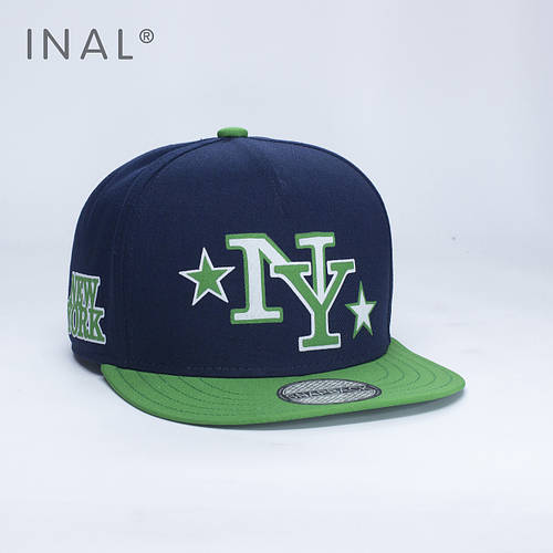 Кепка бейсболка, NY New York, M / 55-56 RU, Хлопок, Синий, Inal