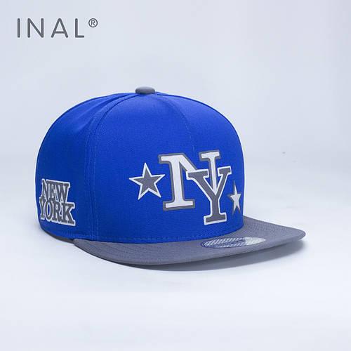 Кепка бейсболка, NY New York, M / 55-56 RU, Хлопок, Электрик, Inal