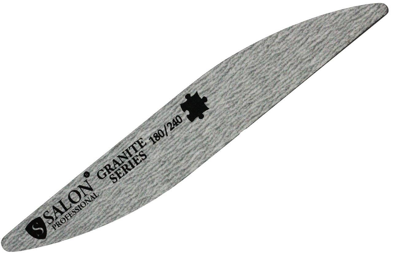 Пилки для ногтей SALON PROFESSIONAL (180/240) капля, серые