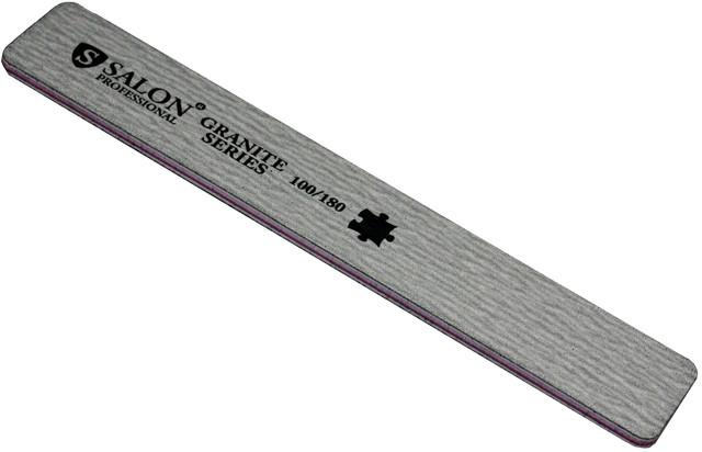 Пилки для нігтів SALON PROFESSIONAL (100/180) квадрат, широкі, сірі