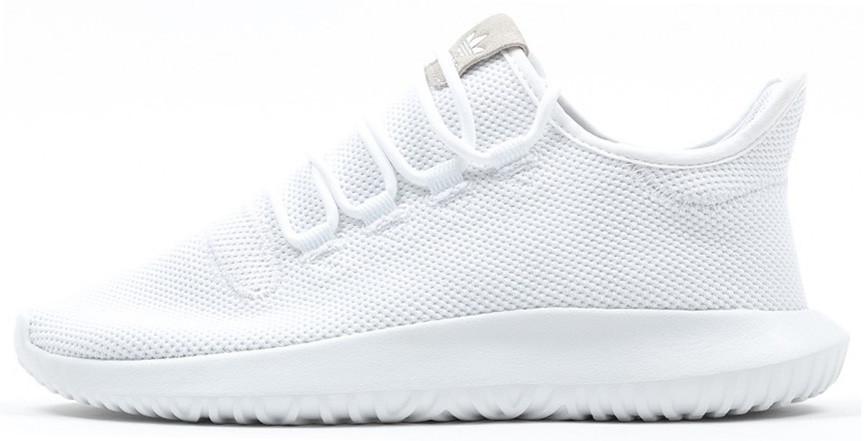 Женские кроссовки adidas Tubular Shadow (Ftwr White/Core Black) (Адидас Тубулар Шадоу) белые