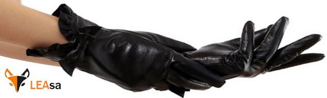 Женские кожаные перчатки ФОТО