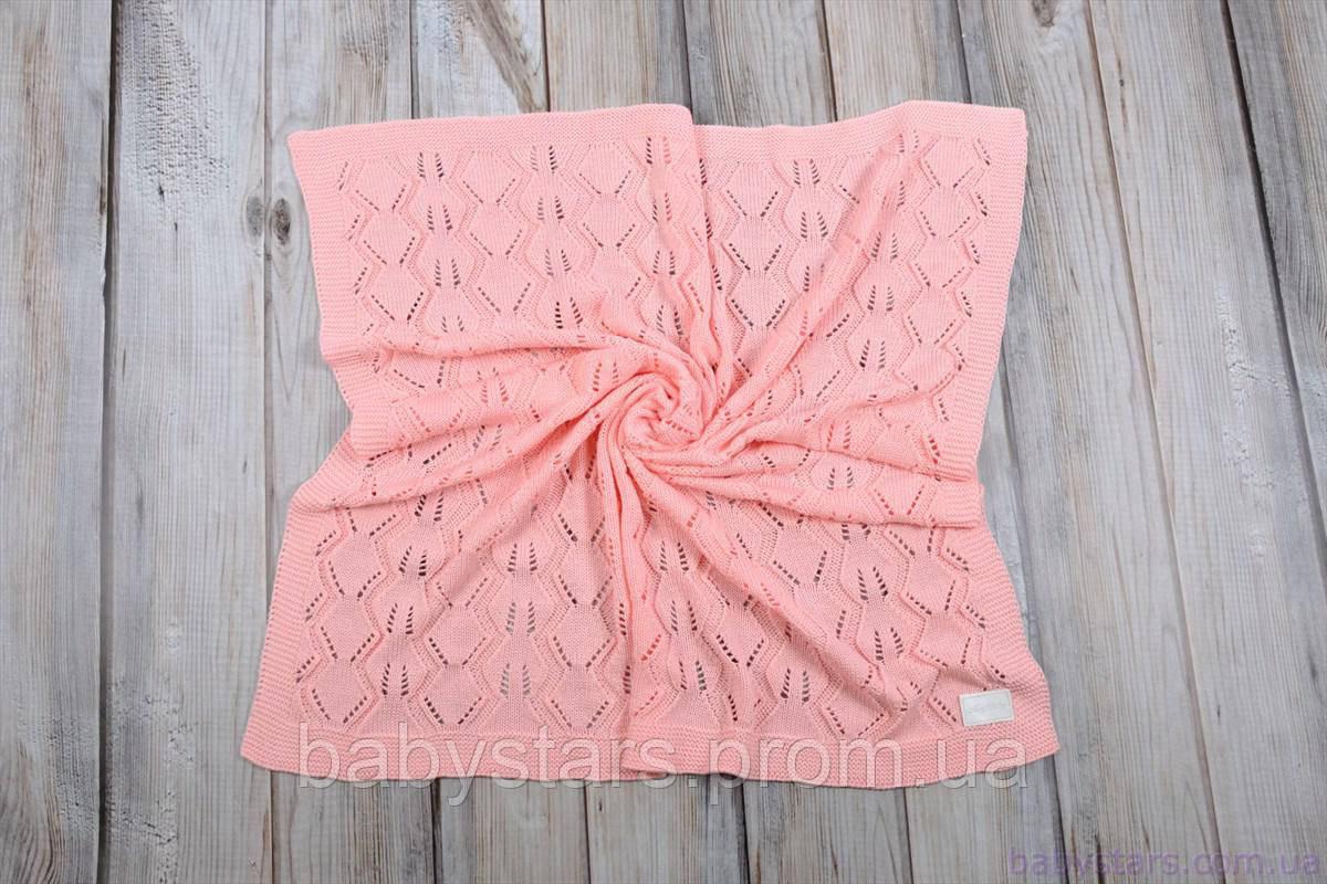 """Летние пледы на выписку для новорожденных """"Палантин"""", розовый"""