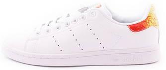 Женские кроссовки adidas Stan Smith Rainbow (Адидас Стэн Смит) белые