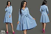 Платье-рубашка из костюмной ткани