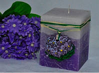 Ароматизированная Свеча Фиалка квадрат 70х90 мм