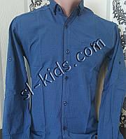 Стильная рубашка для мальчика 11-15 лет(розн) (1801) (пр. Турция)