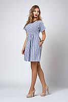 Платье мод №556-3, размеры 40,42 синяя полоска