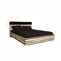 Соната кровать 160 с каркасом черный глянец-орех балтимор