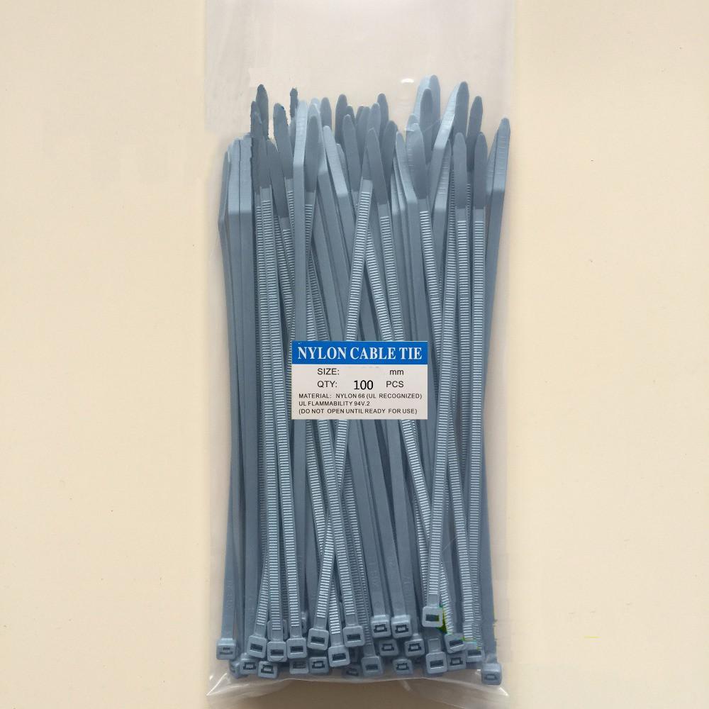 Кабельна стяжка нейлонова сірого кольору 5*400 (4,8*400) 100шт.