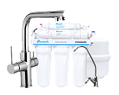 Комплект: DAICY смеситель для кухни, Ecosoft Standart система обратного осмоса  (5ти ступенчатая)
