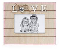 """Фоторамка """"Love"""" деревянная Размер - 23.5*20см, подарок на праздник"""