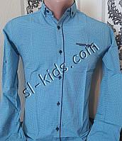 Стильная рубашка для мальчика 11-15 лет(опт) (1804) (пр. Турция)