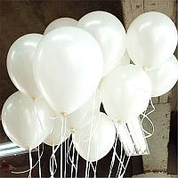 """Воздушные шары латексные пастель цвет белый 8""""(21 см)Италия"""