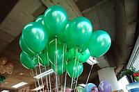 """Воздушные шары 100 шт латексные, цвет зеленый 8""""(21 см)Италия"""