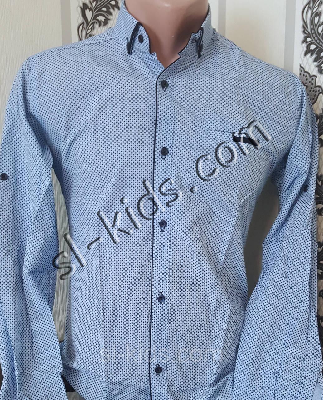 Стильная рубашка для мальчика 11-15 лет(розн) (1806) (пр. Турция)
