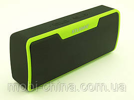 Atlanfa AT-7765 BT 6W, портативна колонка з Bluetooth FM MP3, чорна з зеленим, фото 3
