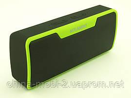 Atlanfa AT-7765 BT 6W, Bluetooth колонка с FM MP3, черная с зеленым, фото 3