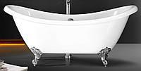 Ванна 175*75*78см, отдельно стоящая, на ножках, акриловая, с сифоном