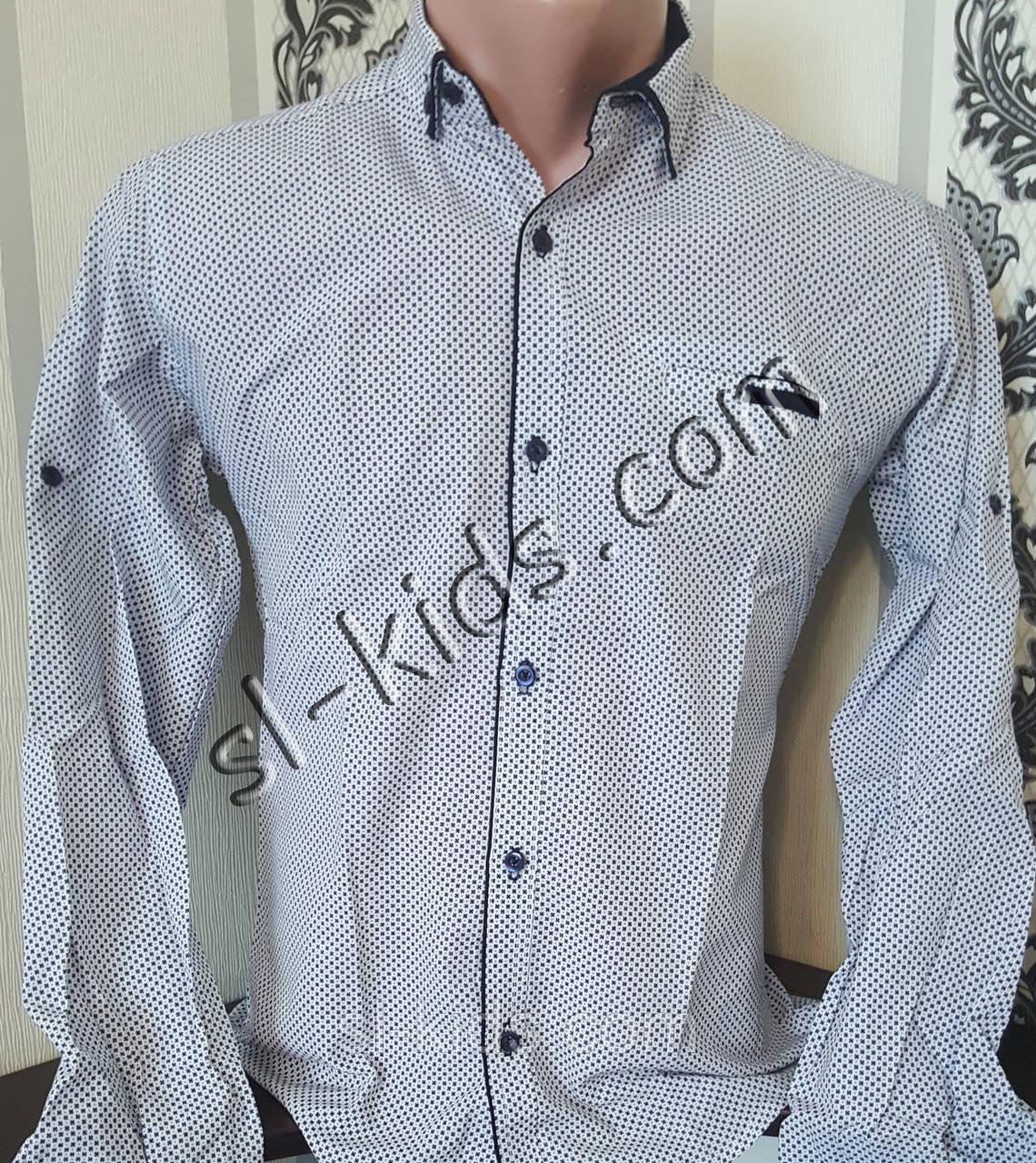 Стильная рубашка для мальчика 11-15 лет(розн) (1808) (пр. Турция)