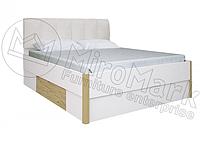 Флоренция кровать 180 мягкая спинка с каркасом глянец белый-Сан Марино