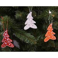 """Новогодние украшения из дерева """"Елочка"""" 12 шт в упаковке"""