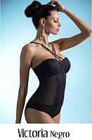 Эксклюзивный купальник с модной сеткой в соблазнительном черном цвете от фирмы LAVEL модель  VIKTORIA