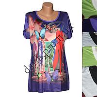 Женская футболка A19b (р-р 50-56) р-ва Вьетнам оптом недорого со склада в Одессе.