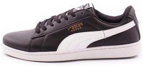 Мужские кроссовки Puma Suede Black (Пума Суиды) черно-белые