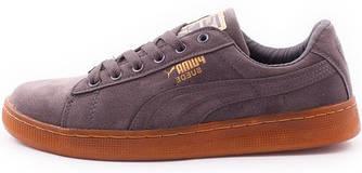 Мужские кроссовки Puma Suede Grey (Пума Суиды) серые