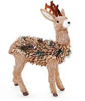 Новогодняя декоративная фигура Олень 57см из натуральных материалов