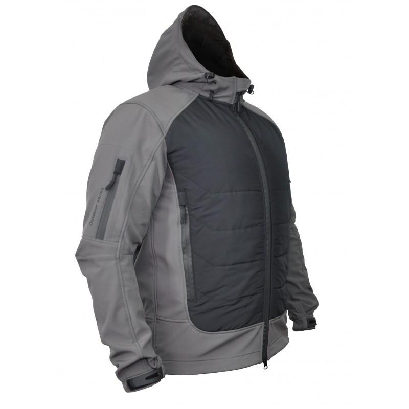 Демисезонная Куртка soft shell gladiator Gray