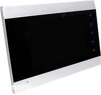 Цветной видеодомофон Green Vision GV-052-J-VD7SD silver, экран 7'' (17,8 см), SD карта