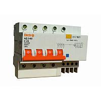 Дифференциальный автоматический выключатель АД2-63 4 полюса+N 40А 30мА