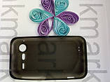 Чохол для HTC Incredible S/G11/S710e (силікон чорний), фото 3
