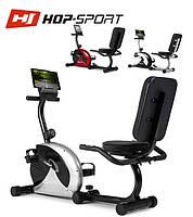 Магнитный, горизонтальный велотренажер HS-65R VEIRON silver/black  до 120 кг. Гарантия 24 мес.