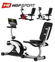 Магнитный, горизонтальный велотренажер HS-65R Veiron black/white  до 120 кг. Гарантия 24 мес.