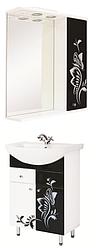 Комплект мебели для ванной Бабочка черно-белая