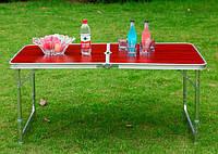 Раскладной столик 120 см для пикника и 4 стулья, туристическая мебель