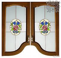 Витражи для кухонных фасадов из матового стекла