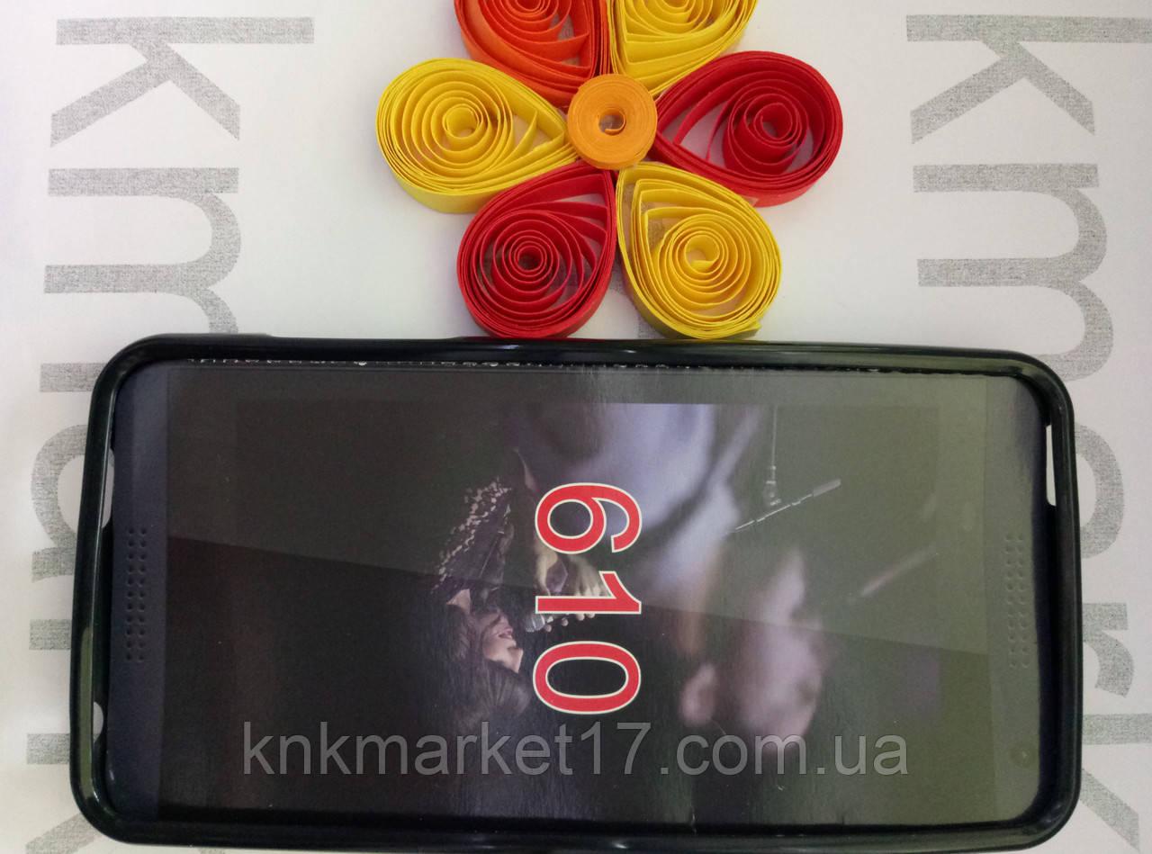 Чохол для HTC Desire 610 (чорний силікон)