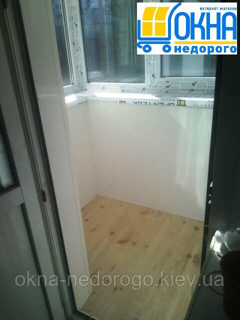 Внутренняя обшивка балконов в Киеве