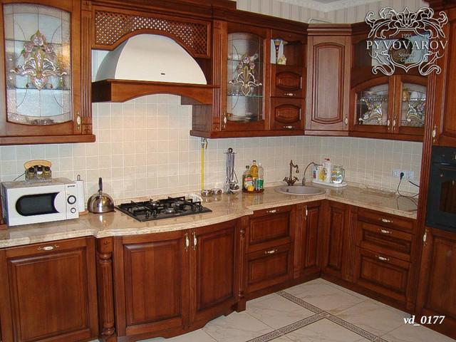 Витражи для кухни угловой