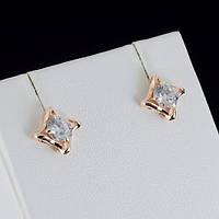 Стильные серьги с кристаллами Swarovski, покрытые слоями золота 0794